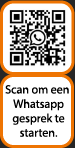 QR code Whatsapp gesprek met Voorberg Zonwering BV footer